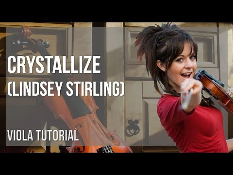 How to play Crystallize by Lindsey Stirling on Viola (Tutorial)