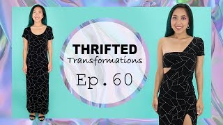 DIY One Shoulder Dress | Thrifted Transformations Ep. 60