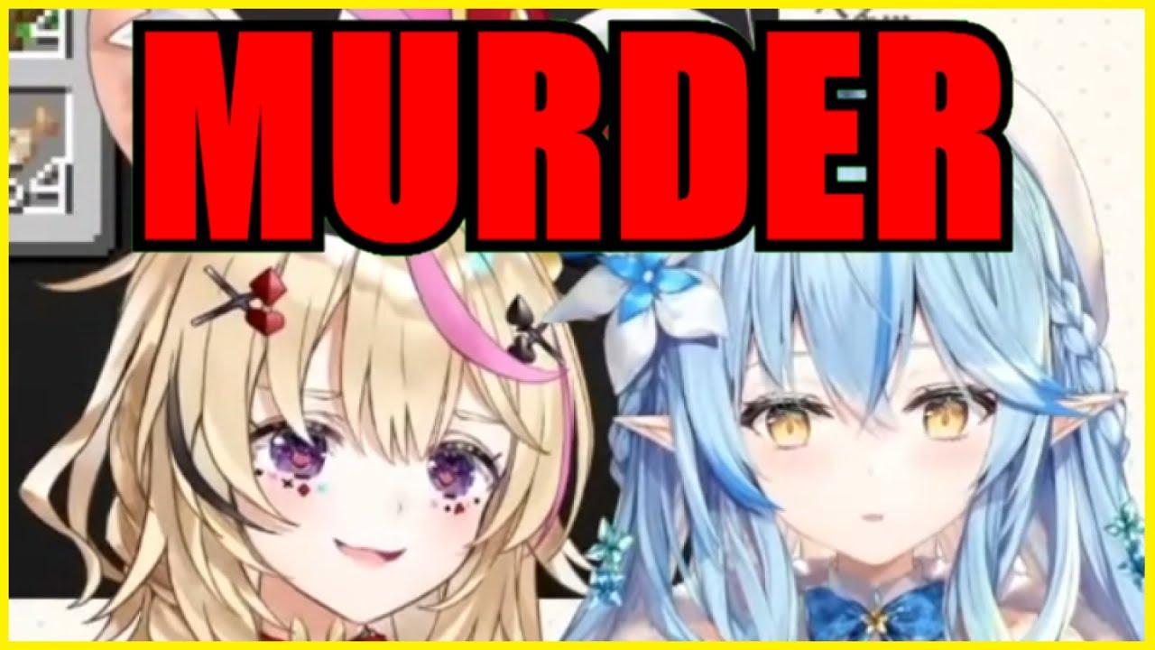 Lamy & Polka Witness A Rabbit Murdering An UsaKen Employee【Minecraft】【Hololive   Eng Sub】