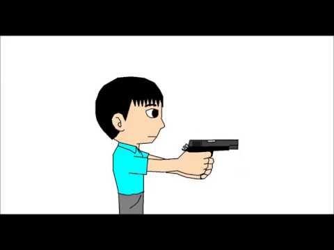 [Pro TD] Clip Ngắn: Bắn súng lục (Test Video) | MS Paint Animation