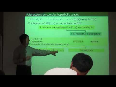 Jose Carlos Díaz-Ramos (University of Santiago de Compostela) / PolaractionsoncomplexspaceformsⅡ
