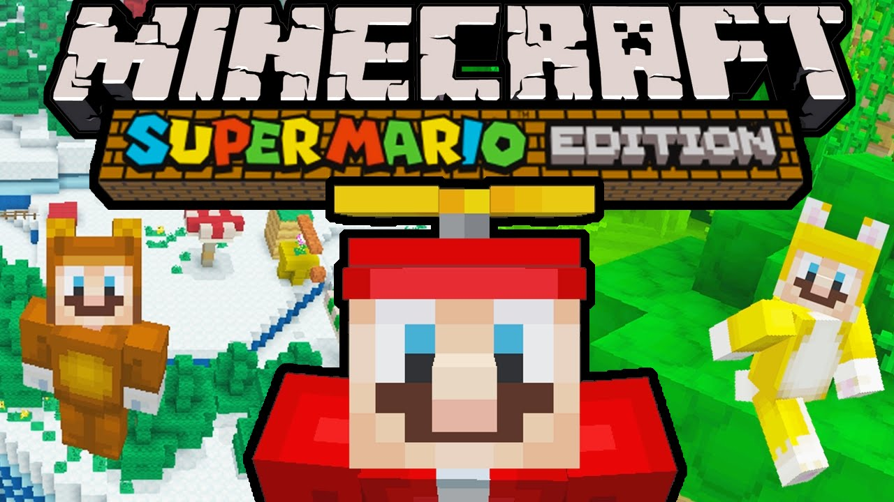 Minecraft TOP 10 MARIOS Super Mario Mash-Up Pack Character Skins Nintendo  Wii U (Parody Top 10 List)