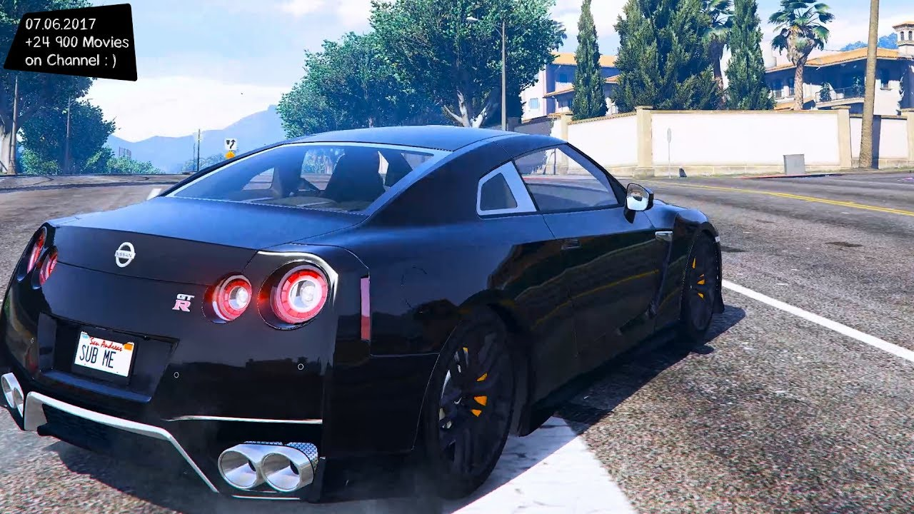 nissan gtr 2017 new enb top speed test gta mod future youtube. Black Bedroom Furniture Sets. Home Design Ideas