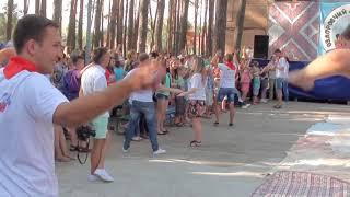 Танцевалка Ёлочки пенёчки в детском лагере Чайка Сумы
