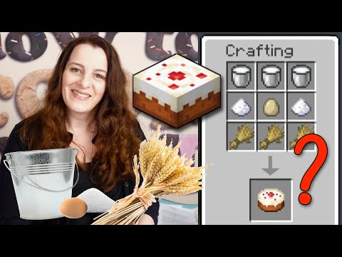Does the MINECRAFT cake recipe work in real life?   How To Cook That Ann Reardon