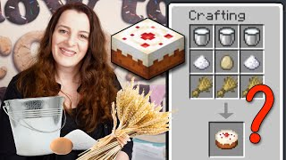 Does the MINECRAFT cąke recipe work in real life? | How To Cook That Ann Reardon