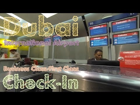 GoPro | Dubai International Airport | Terminal 3 First Class/Business Class Check-In | Flight EK29