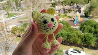 Amigurumi Sallanan Ayaklı Kedi Anahtarlık Yapımı