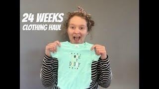 Newborn Clothing Haul | 24 Week Pregnancy Update | Zero Waste Baby