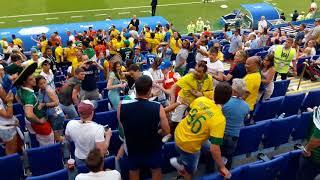 Драка между фанатами Бразилии и Мексики FIFA 2018 WORLD CUP SAMARA