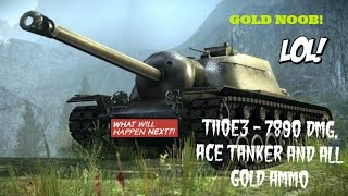 World of Tanks: T110E3 scored Ace Tanker and 7.890 dmg - serbian commentary
