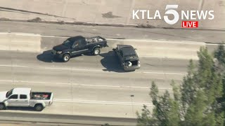 Driver in custody after high-speed police pursuit, crash in San Gabriel Valley area screenshot 5