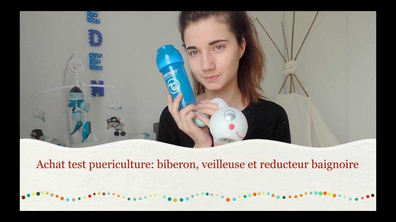 Achat Test Puericulture Biberon Veilleuse Et Reducteur Baignoire Youtube