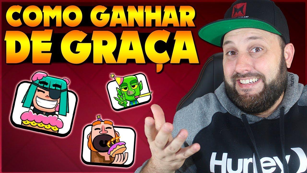 BRUNO CLASH -  COMO GANHAR GRÁTIS O NOVO EMOTE DE ANIVERSÁRIO DO CLASH ROYALE!!