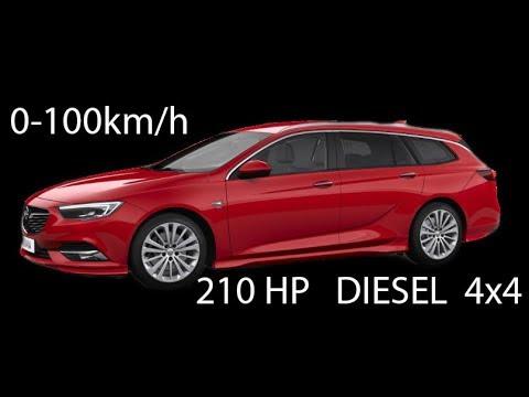 2017 Opel Insignia 210 HP (ps) Diesel BiTurbo 4x4  - Acceleration / Beschleunigung