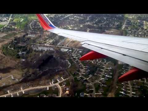 [HD] Southwest Airlines 737-700 Decent, Approach, and Landing in Flint