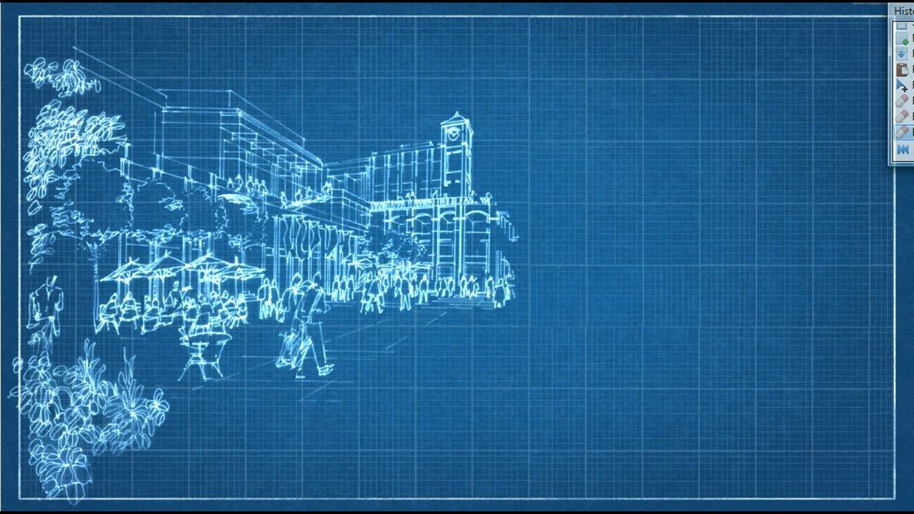 Blueprint sketch animation youtube malvernweather Image collections