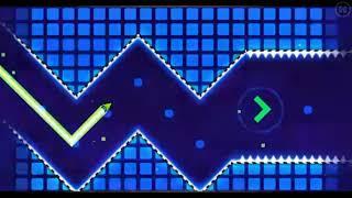 Playing geometry Dash press start
