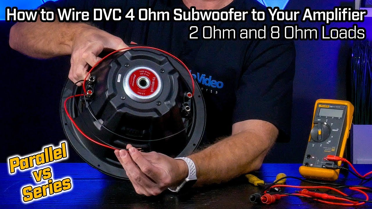 wiring your dvc 4 ohm subwoofer 2 ohm parallel vs 8 ohm series wiring [ 1280 x 720 Pixel ]