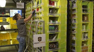 A look inside one of Amazon's robotic fulfillment centers