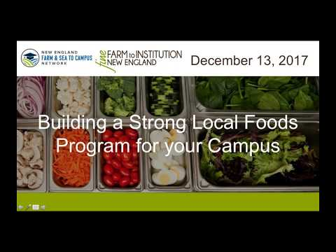 Building a Strong Local Foods Program for Your Campus