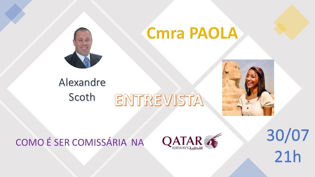 Como VOAR na Qatar Airways - Comissária Paola Dantas