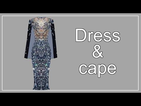 Модная накидка для платья