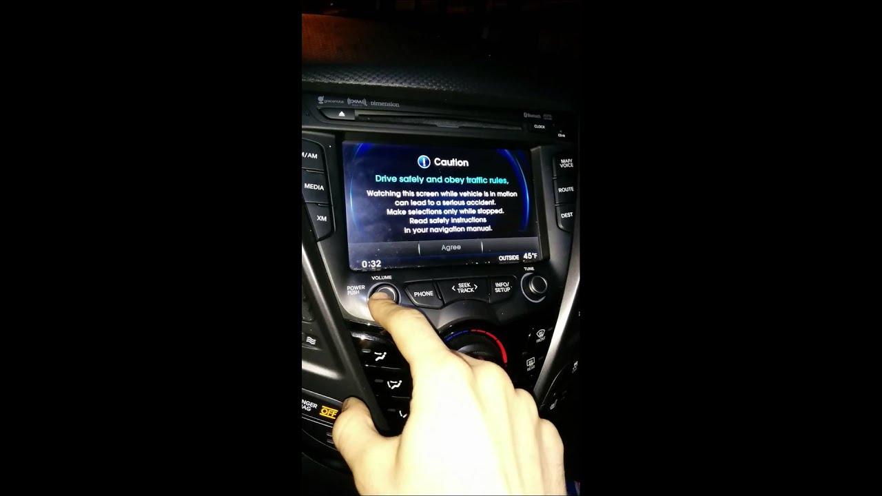 2013 Hyundai Veloster Turbo Head unit issues