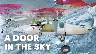 2 wingsuit flyers BASE jump into a plane in mid-air. | A Door In The Sky thumbnail