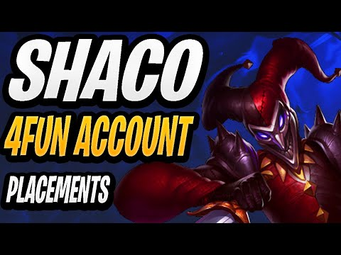 4Fun Shaco Only Account Placements #2 | Stream Highlights