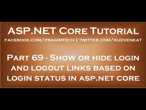 Show Or Hide Login And Logout Links Based On Login Status In Asp Net Core