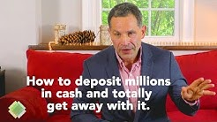 Making large cash deposits and IRS Form 8300