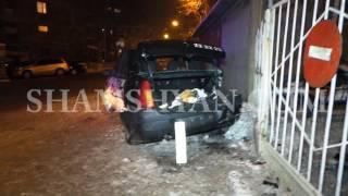Ավտովթար Երևանում  ճանապարհի մերկասառույցի պատճառով բախվել են Lexus ն ու Dacia ն
