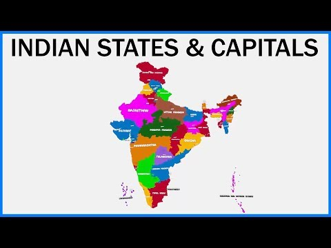 Indian States And Capitals (Educational) | India Map | Learning & Education