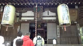 緑豊かな山の中に建つ 荘厳な今熊野観音寺 弘法大師の創建 観音様が後白...