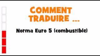 TRADUCTION ESPAGNOL+FRANCAIS = Norma Euro 5 combustible