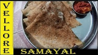 MORNING BREAKFAST RECEIPE/ how  to cook delicious WHEAT RAVA DOSA  Tamil/  gothumai rava dosai