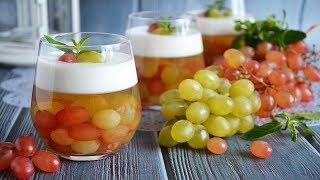 Виноградное желе с йогуртом
