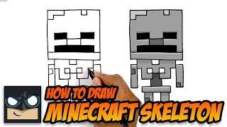 How to Draw Minecraft Skeleton | Cartooning 4 Kids