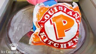 Popeyes Chicken Sandwich ICE CREAM ROLLS!!!