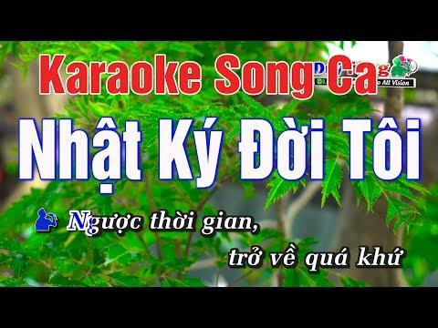 Karaoke || Nhật Ký Đời Tôi Song Ca || Nhạc Sống Duy Tùng