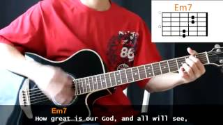 Chris Tomlin - How Great Is Our God Cover With Guitar Chords Lesson