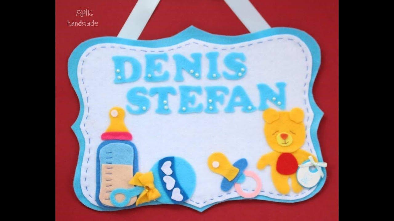 Decoratiune Personalizata Pentru Botez Din Fetru Si Carton Tutorial
