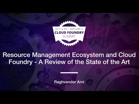 Resource Management Ecosystem and Cloud Foundry - A Review of the State of the Art