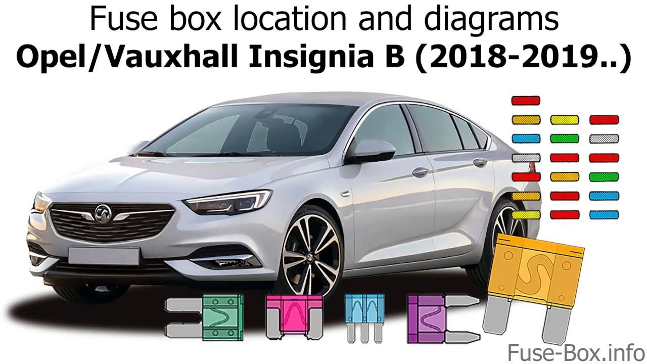 medium resolution of fuse box location and diagrams opel vauxhall insignia b 2018 2019