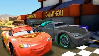 Lightning Mcqueen Vs Boost & Holley Shiftwell Disney CARS Racing Game Play