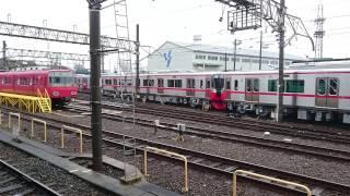 名鉄3150系甲種輸送 3170F+3171F+3172F 大江到着【無編集】