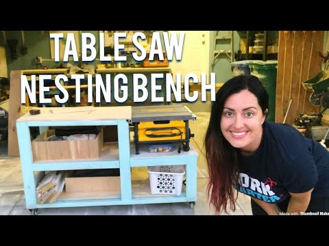 DIY Table saw workbench