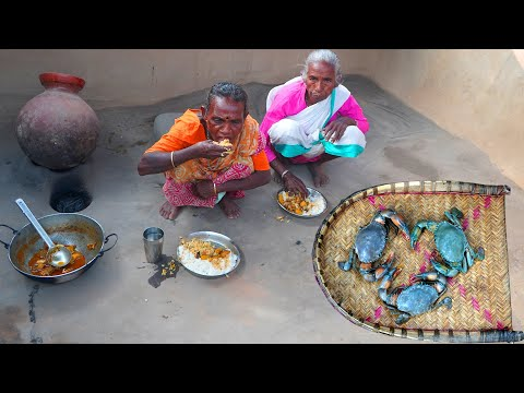 Sundarban River King Crab Cooking by Santali Tribe Grandmothers by their Traditional Cooking Method