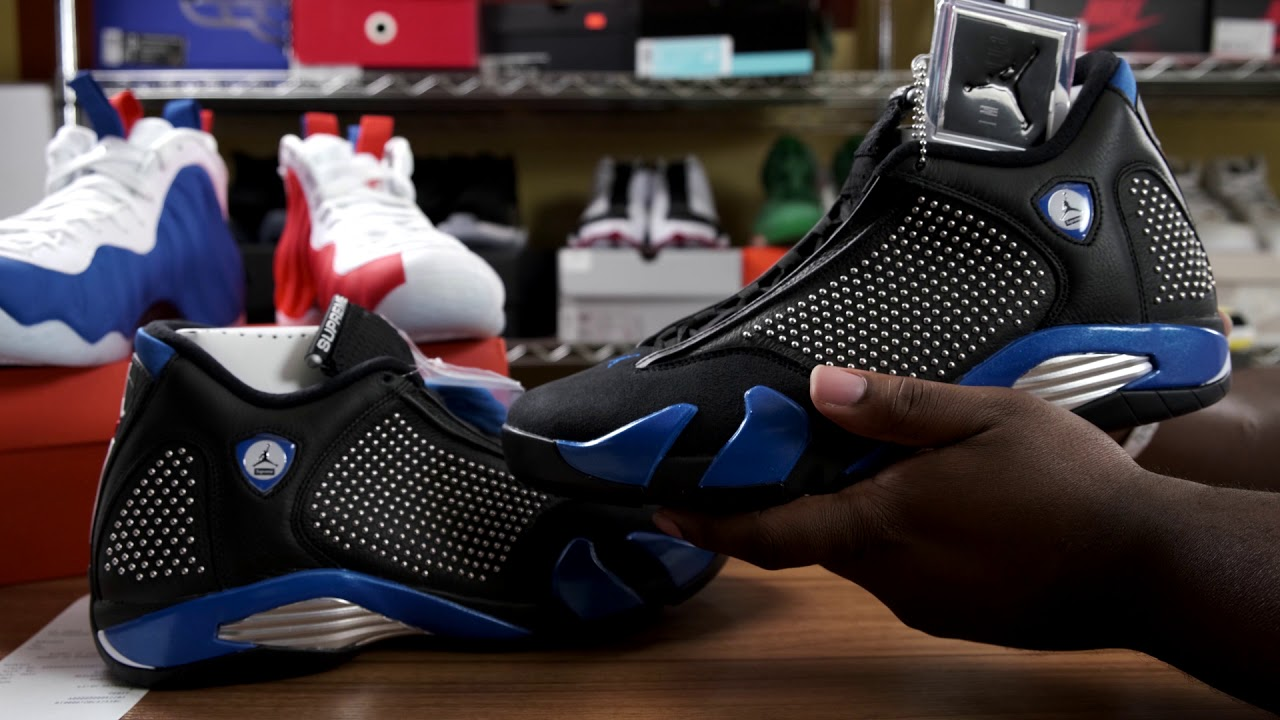 new products 34760 4d5f4 THE AIR JORDAN 14 X SUPREME LOOK GOOD IN HAND
